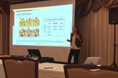 Aubrey represents the Bocarsly Lab with a presentation at the 2017 Chemistry Department Retreat.