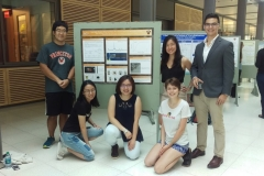 Teresa, Natasa, and Michael with their summer mentors James, Danrui, and Hsinya